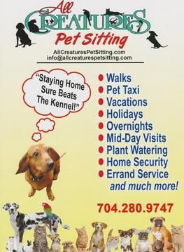All Creatures Pet Sitting Business Forms Pinterest