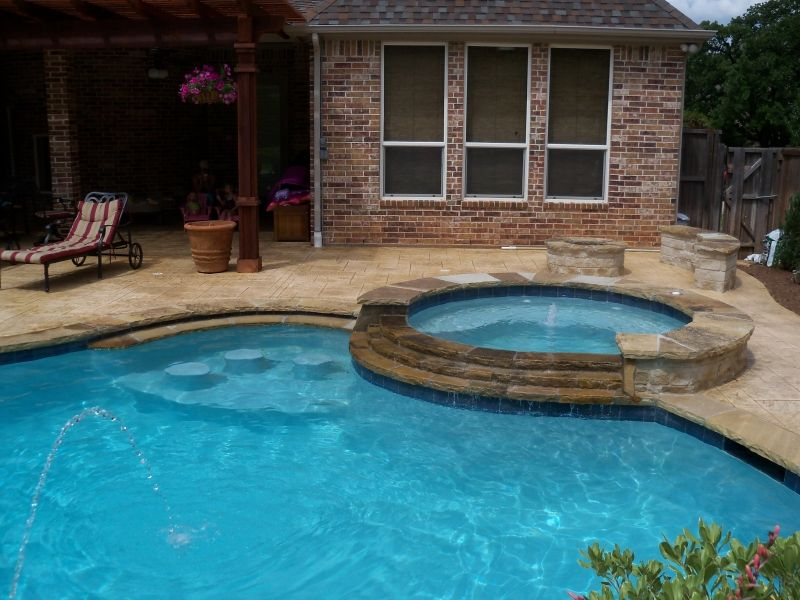 spa gallery outdoor living pool and patio pools pinterest