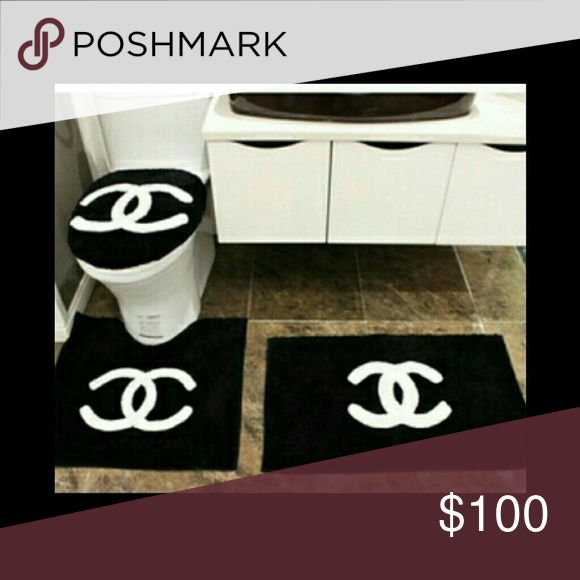 Chanel Bathroom Rug Set 3 Pcs Like You See On Pictures