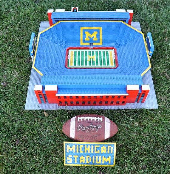 Michigan Stadium, Brick model | Football stadiums and Lego