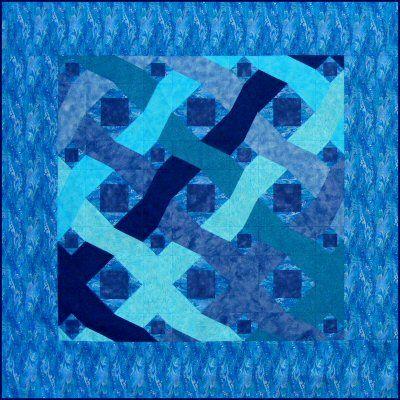 Ocean Waves free paper pieced quilt pattern.  http://www.victorianaquiltdesigns.com/VictorianaQuilters/BlockoftheMonth/OceanWavesPaperPiecedQuiltPattern.htm A unique wavy 'Storm at Sea' quilt pattern. #quilting
