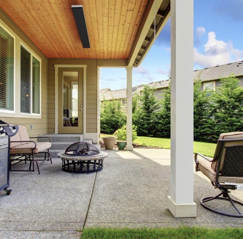 """53.5"""" 2400W 208V Cafe Outdoor Patio Heater Concrete"""