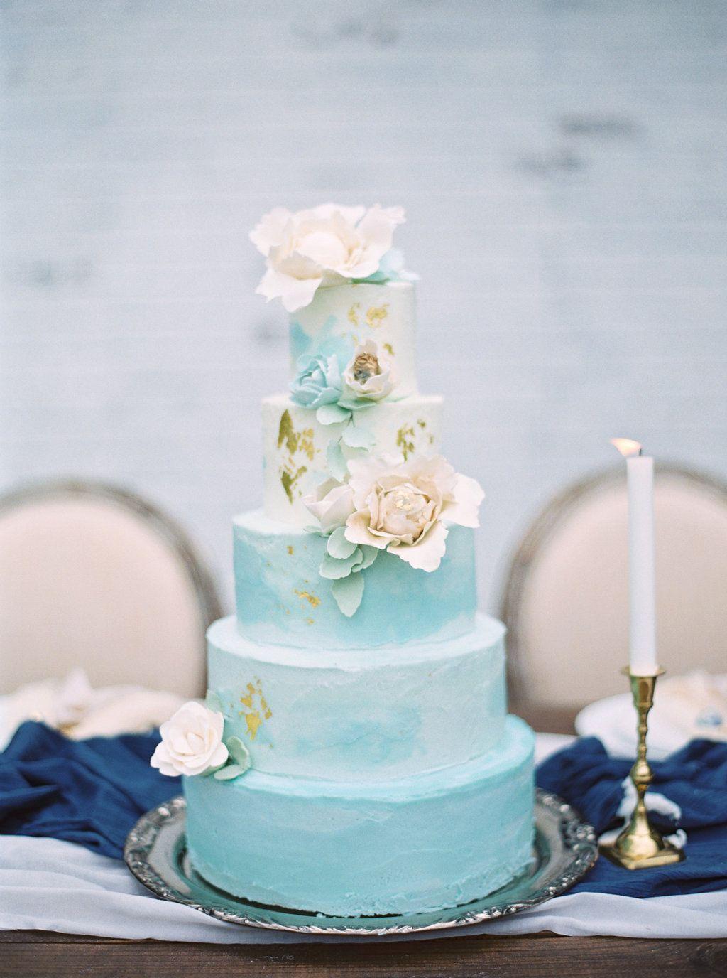 21 Ideas for a Beautiful Aquamarine Wedding | Wedding cake, Cake and ...