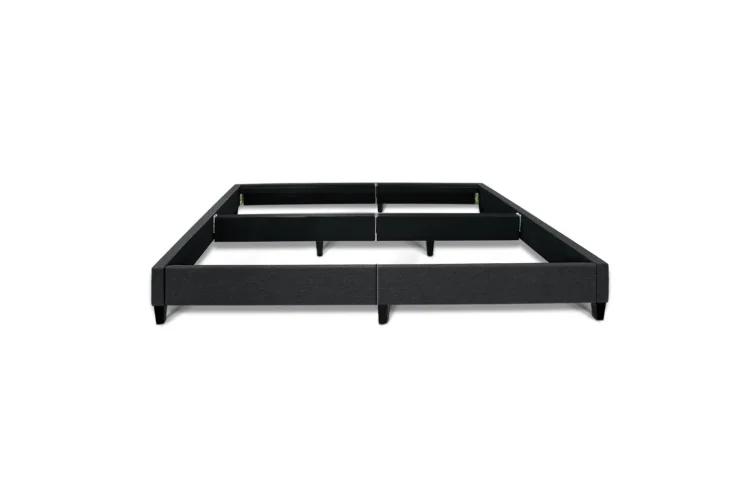 Best Queen Size Bed Base Frame Mattress Platform Fabric Wooden 400 x 300