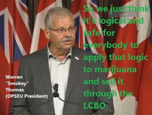 LCBO To Sell Marijuana OPSEU President Warren Smokey Thomas Says. Marijuana and…