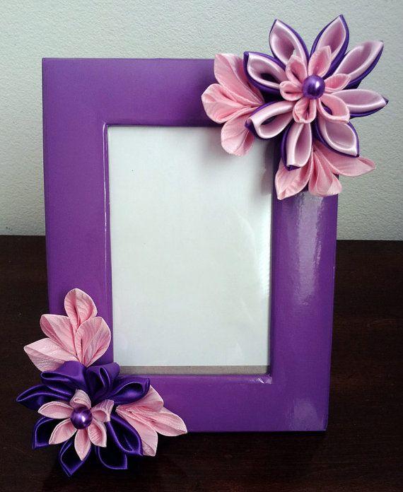 Lavender Kanzashi Frame Nemchinmarina