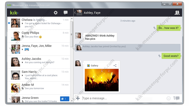 Download Kik messenger app for pc  It is compatible for