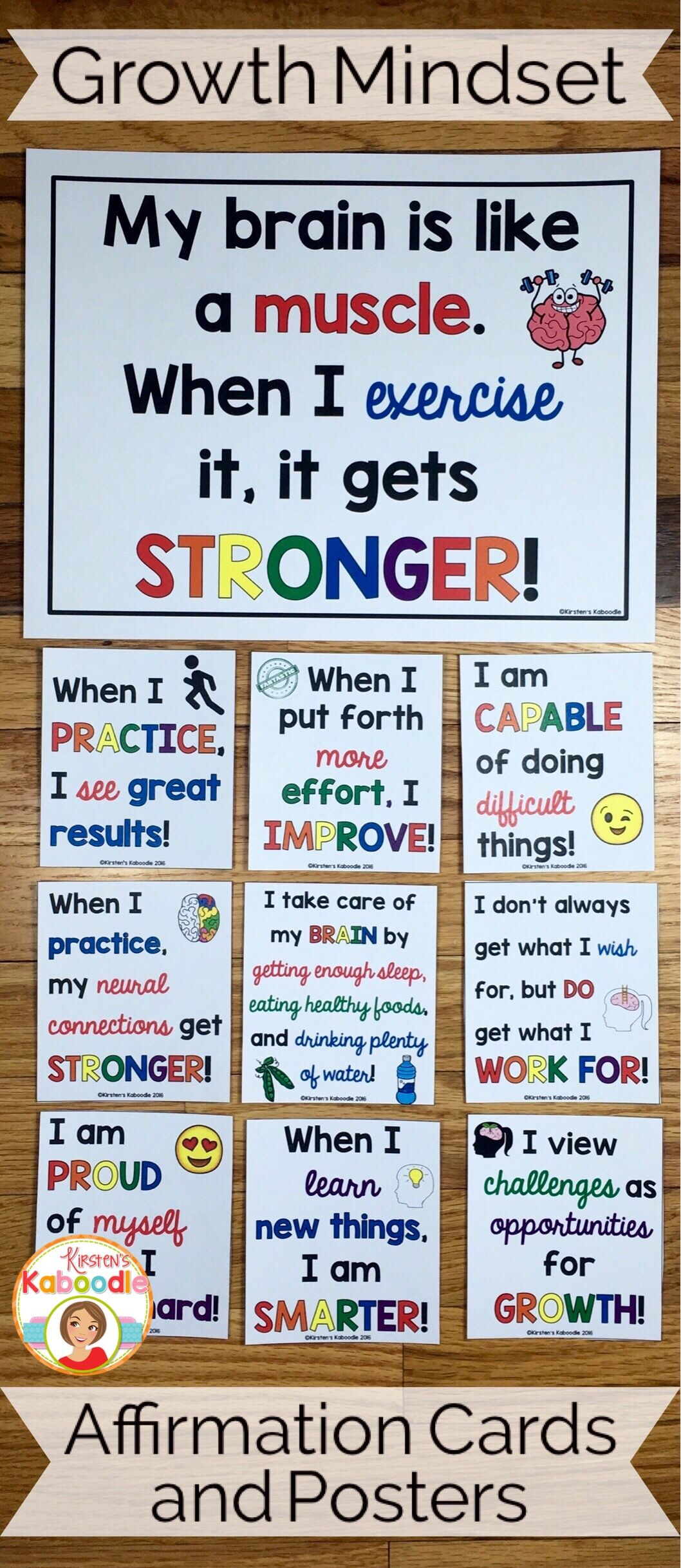 Growth Mindset Affirmations | Kirsten's Kaboodle Ideas and