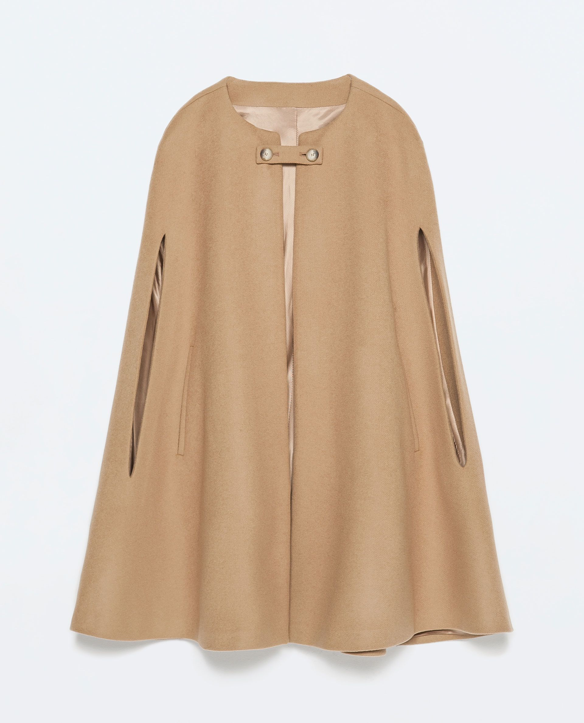 BUTTONED CAPE COAT - Outerwear - Woman - COLLECTION SS15 | ZARA United States $189 | Fall Style ...