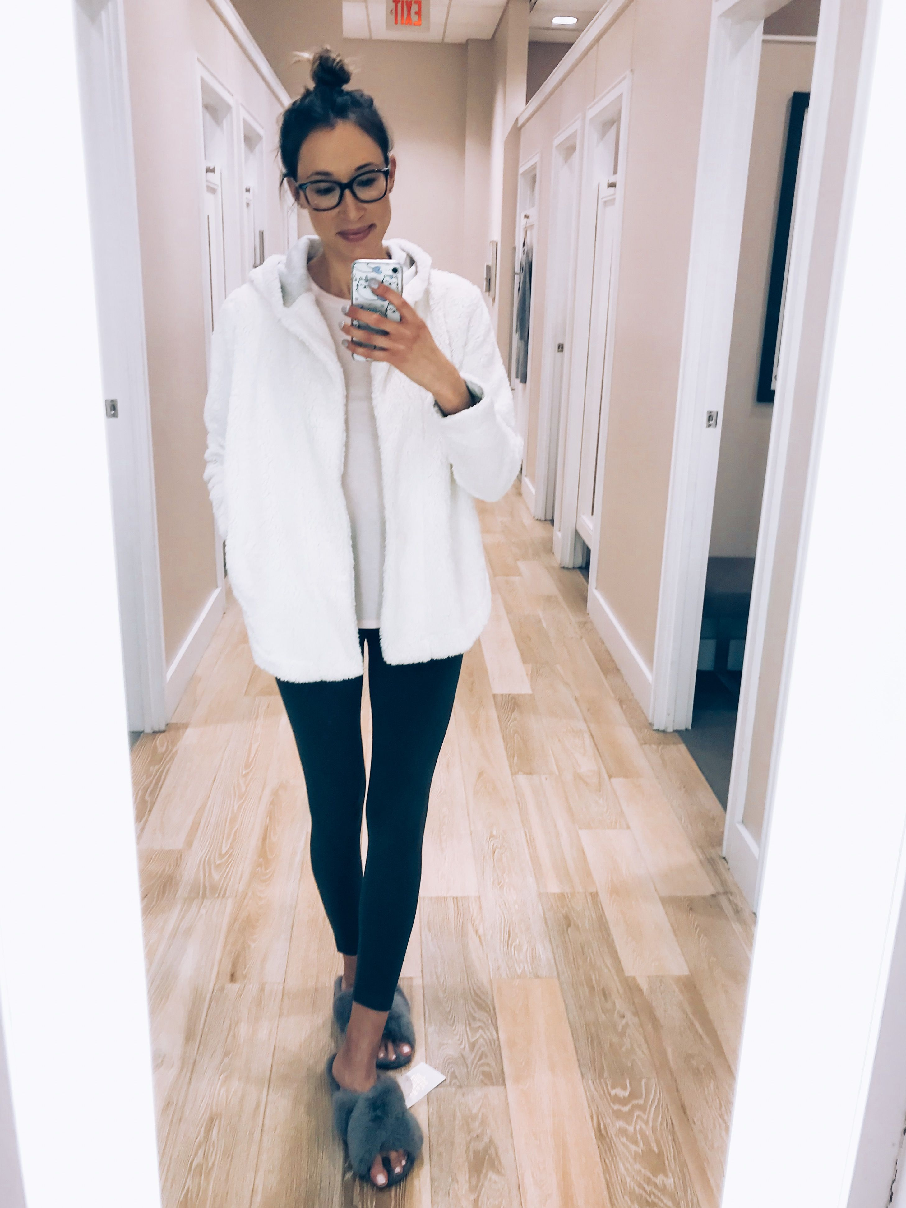 34c73b1391 LOFT haul and try-on sherpa hooded cardigan and soft leggings