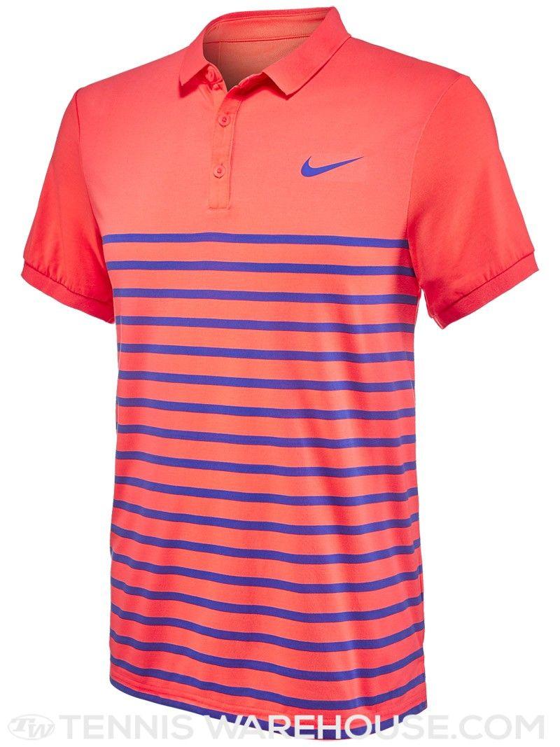 Nike Men s Summer Advantage Cool Stripe Tennis Polo  388c1eb4daf