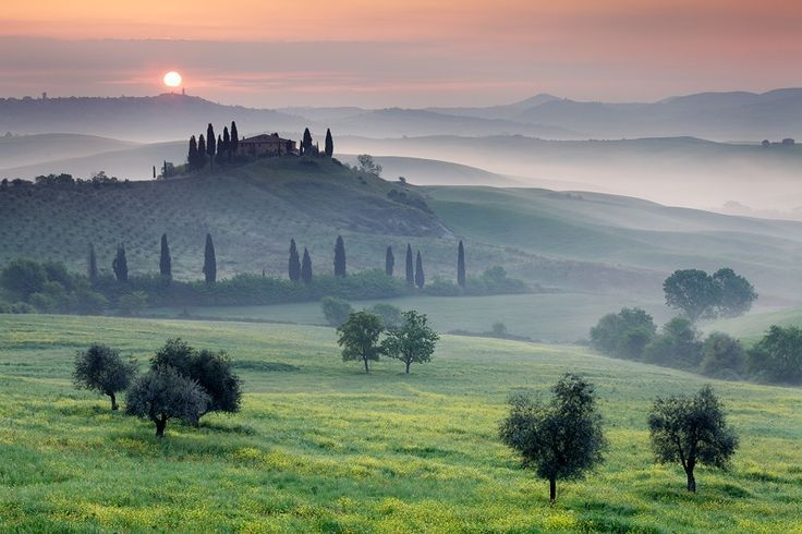 Beautiful Landscape Photography Tuscan Sunrise By Martin Rak On 500px Beautiful Landscape Photography Places To Travel Beautiful Landscapes