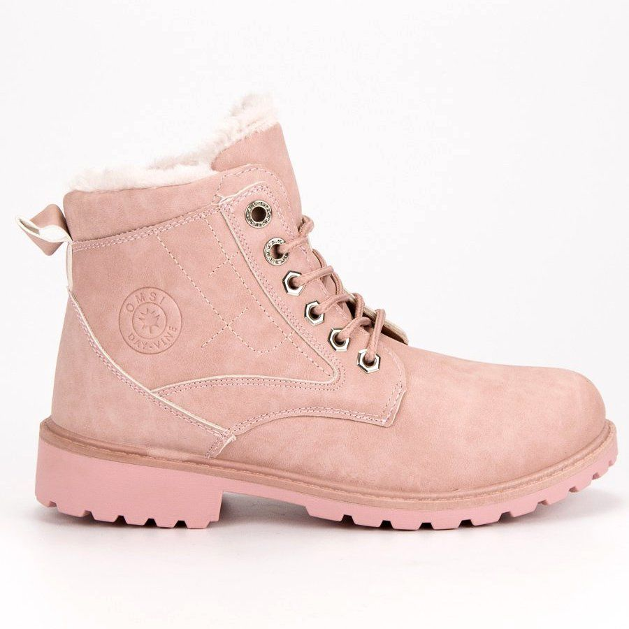 Klasyczne Rozowe Trapery Boots Timberland Boots Shoes