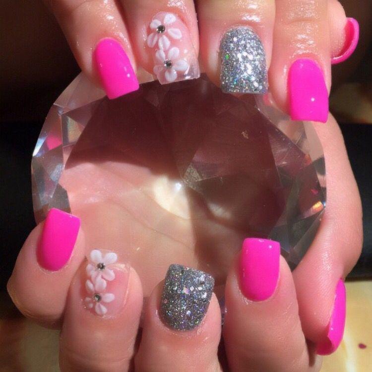 Beautiful Pink acrylic nails | Pink acrylic nails, Nails