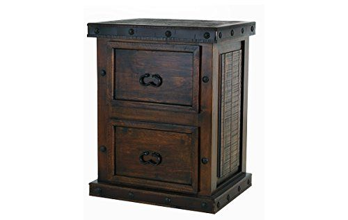 Rustic Gran Hacienda 2 Drawer File Cabinet Solid Wood Lodge Old World Review Rustic Doors Rustic Office Rustic Cabinets