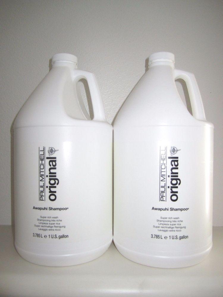 New PAUL MITCHELL Awapuhi Shampoo Super Rich Wash Deep Cleansing Sz Gallon  X2  PaulMitchell ccb9ed7782