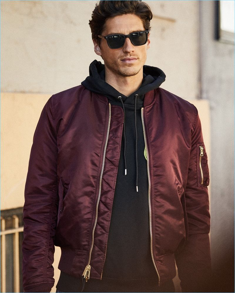 Easy Street: Off-duty style reigns with an Alpha Industries MA-1 bomber