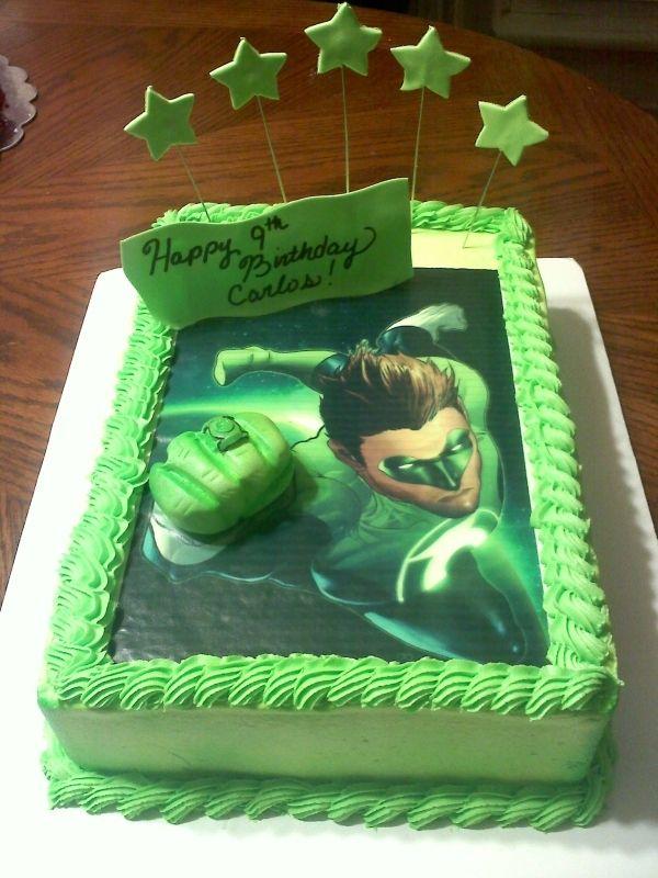 Green Lantern Cake Superhero Birthday Party Pinterest Green