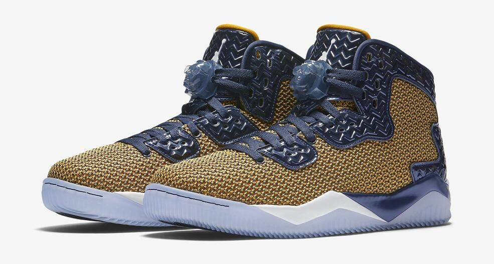 Jordan Air Spike 40 Dunk From Above Color:Gold Leaf/White-Midnight Navy