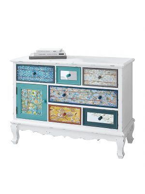 Kommode Shabby Chic Mdf Weiss Bunt Pureday Furniture Projects Home Decor Shabby Vintage