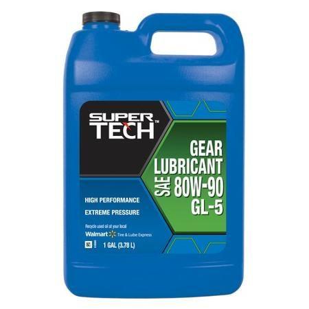 Super Tech 80w 90 High Performance Gear Oil 1 Gallon Engineering Oils Tech Gear