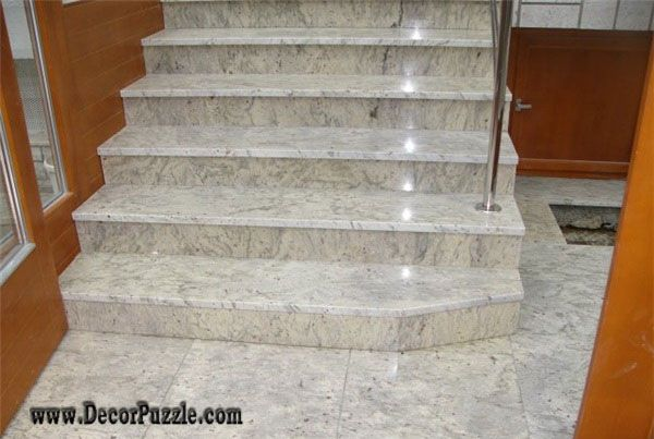 River White Granite Stairs Floor Tiles