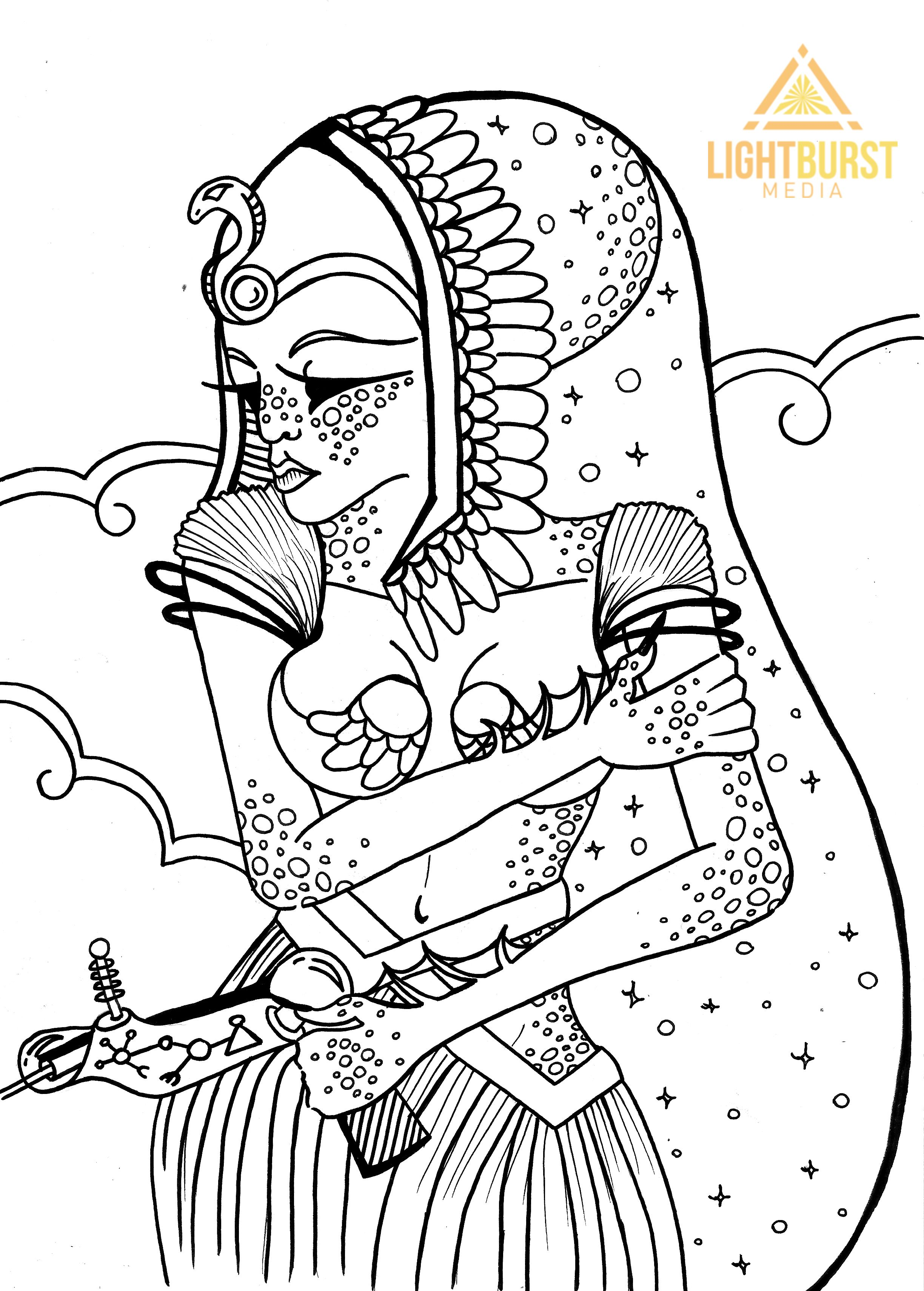 Colouring in book free - Free Coloring Page From Space Dreams Sci Fi Adult Adventure Coloring Book Available