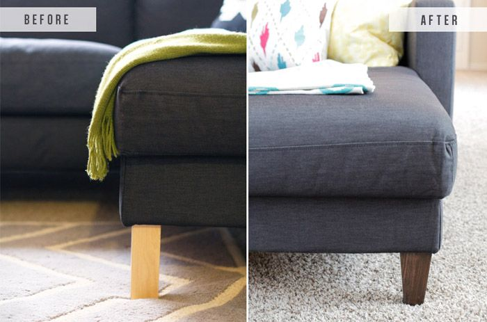 Ikea Hack Replacing Legs On An Couch The Blissful Bee Rh Pinterest Com