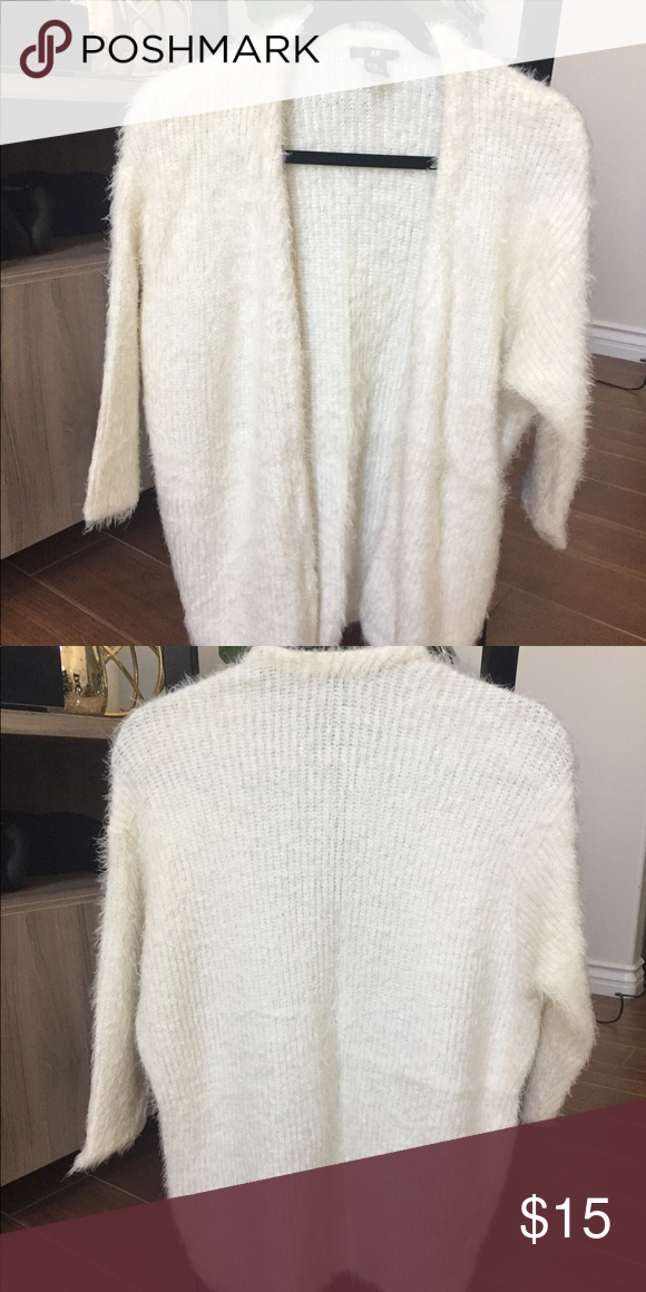 335d934f58 Soft Cream Cardigan Super soft fuzzy cream color Knit Cardigan with 3 4  sleeve H M Sweaters Cardigans