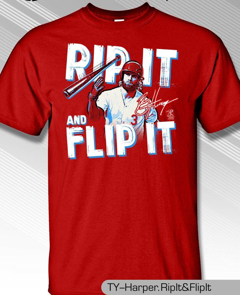 BRYCE HARPER PHILADELPHIA RIP IT FLIP IT TSHIRT MLB1810F