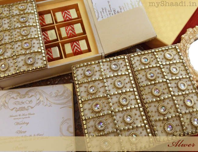 Luxury Invitations For A Royal Indian Wedding Aline