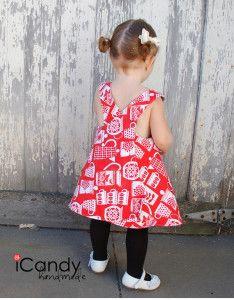 Schürzenkleid - Kleid - Criss Cross Summer Dress, 18M-2T oder für ältere als Tunika