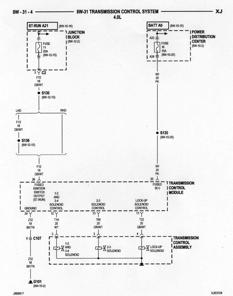 jeep aw4 wiring diagram transmission control system 4 0 aw4 jeep cherokee xj  jeep  jeep cherokee xj