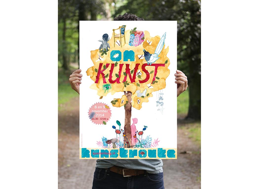 Leonie Verbrugge | illustrator & book designer | illustration for the Art route