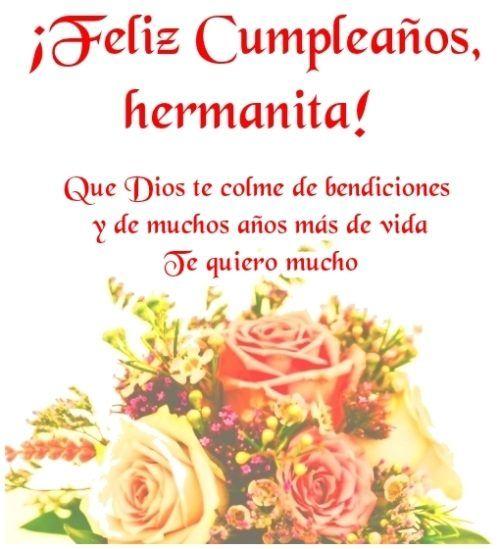 Imagenes Frases Y Tarjetas De Feliz Cumpleanos Hermana Happy Birthday Wishes Cards Happy Birthday Quotes Happy Birthday Sister