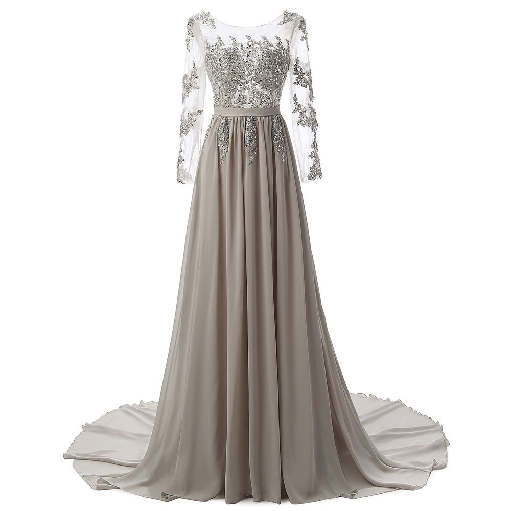 2018 Long Chiffon Evening Formal Party Cocktail Dress Bridesmaid Prom Gowns c4dcd005b804