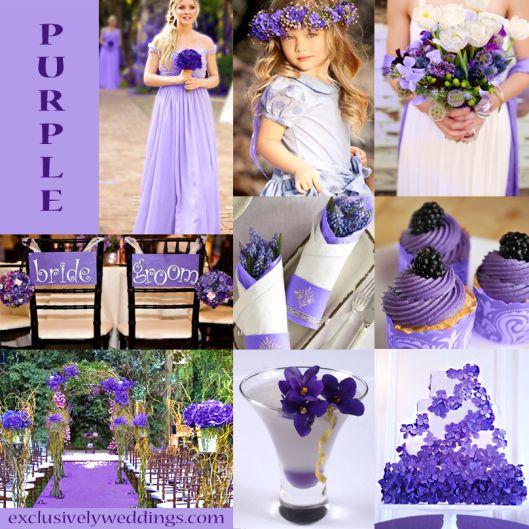 Purple Wedding Color Combination Options Exclusively Weddings Wedding Colors Purple Wedding Theme Colors Purple Wedding Theme