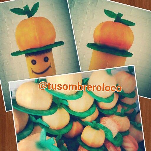 sombrero naranja para adultos y nios horaloca fiesta evento by
