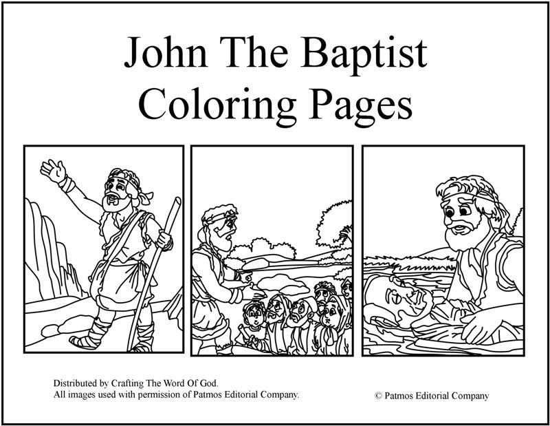 John The Baptist Coloring Pages (Day 3) | SonSpark Labs Crafts (2015 ...
