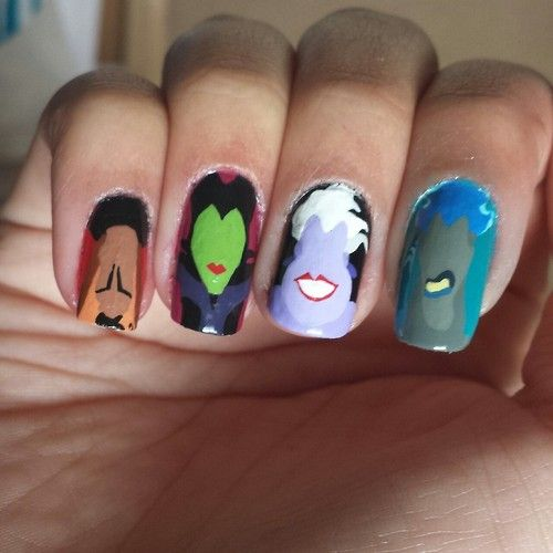 Disney Villain Nail Art Nail Art Ideas And Inspiration Pinterest