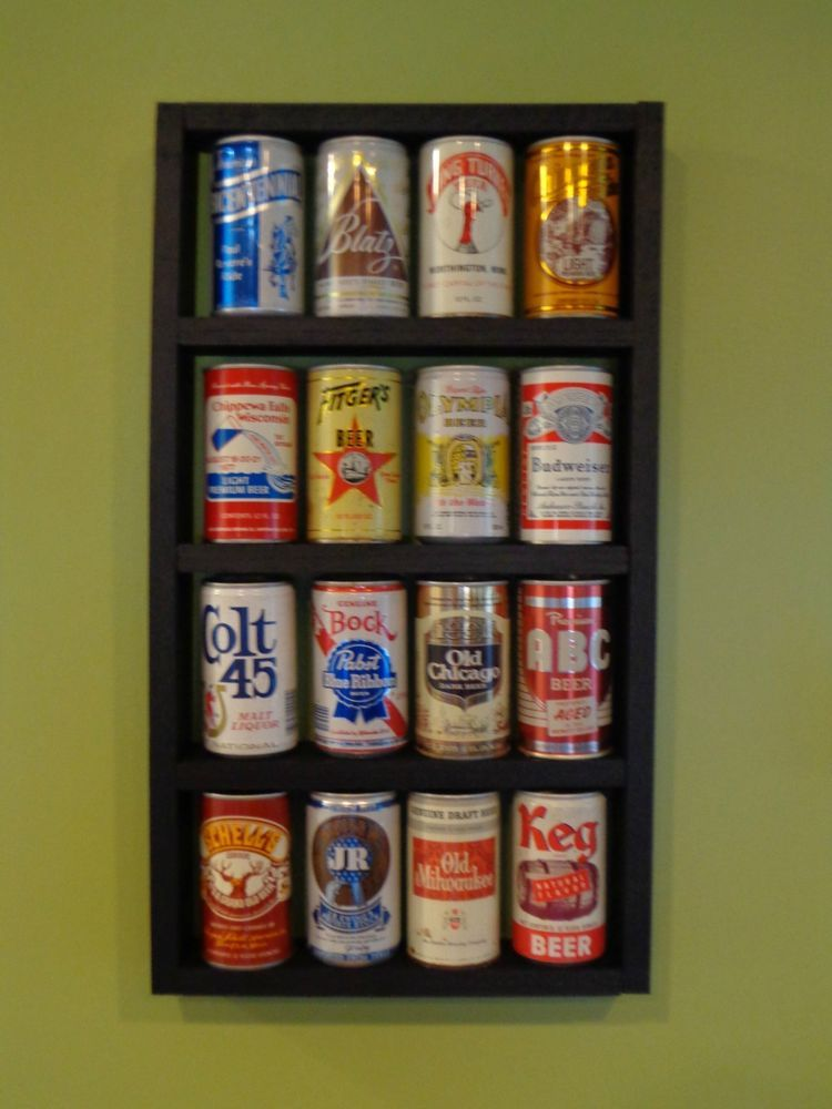 Beer Can Wood Display Shelf Cans Not Included Beer