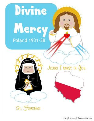 Life, Love, & Sacred Art: FREE Divine Mercy Coloring Page