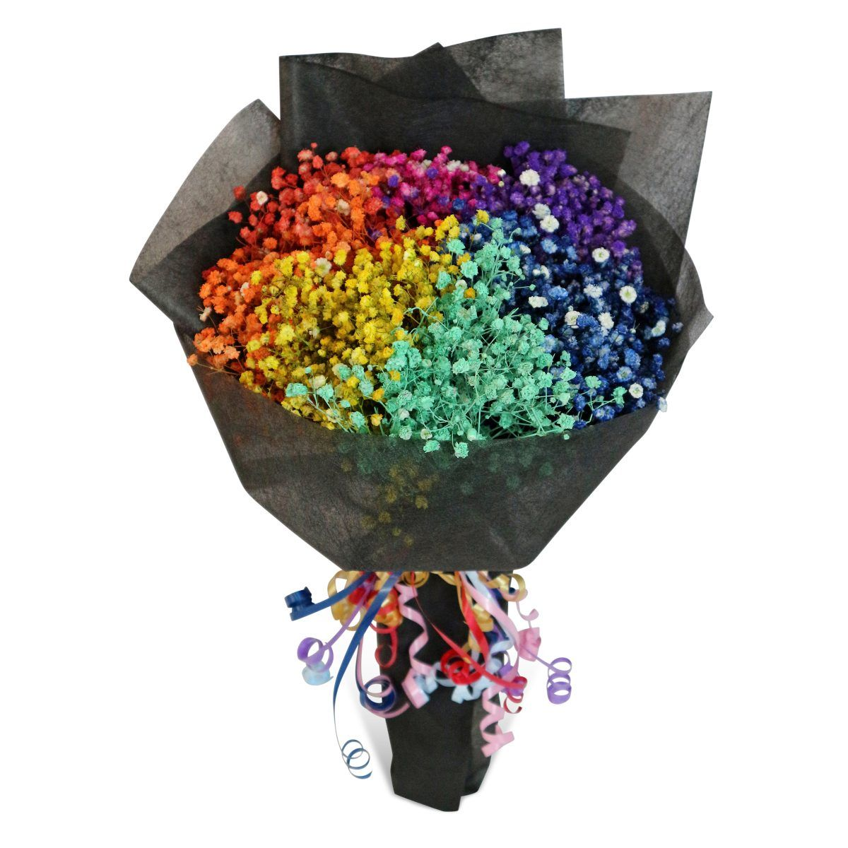 Rainbow Baby S Breath 1 Flora Moments Online Florist Singapore Express Flower Delivery Flowers Bouquet Gift Babys Breath Rainbow Bouquet