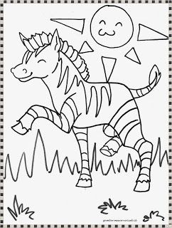Lembar Mewarnai Gambar Zebra Zebra Warna Lembar Mewarnai
