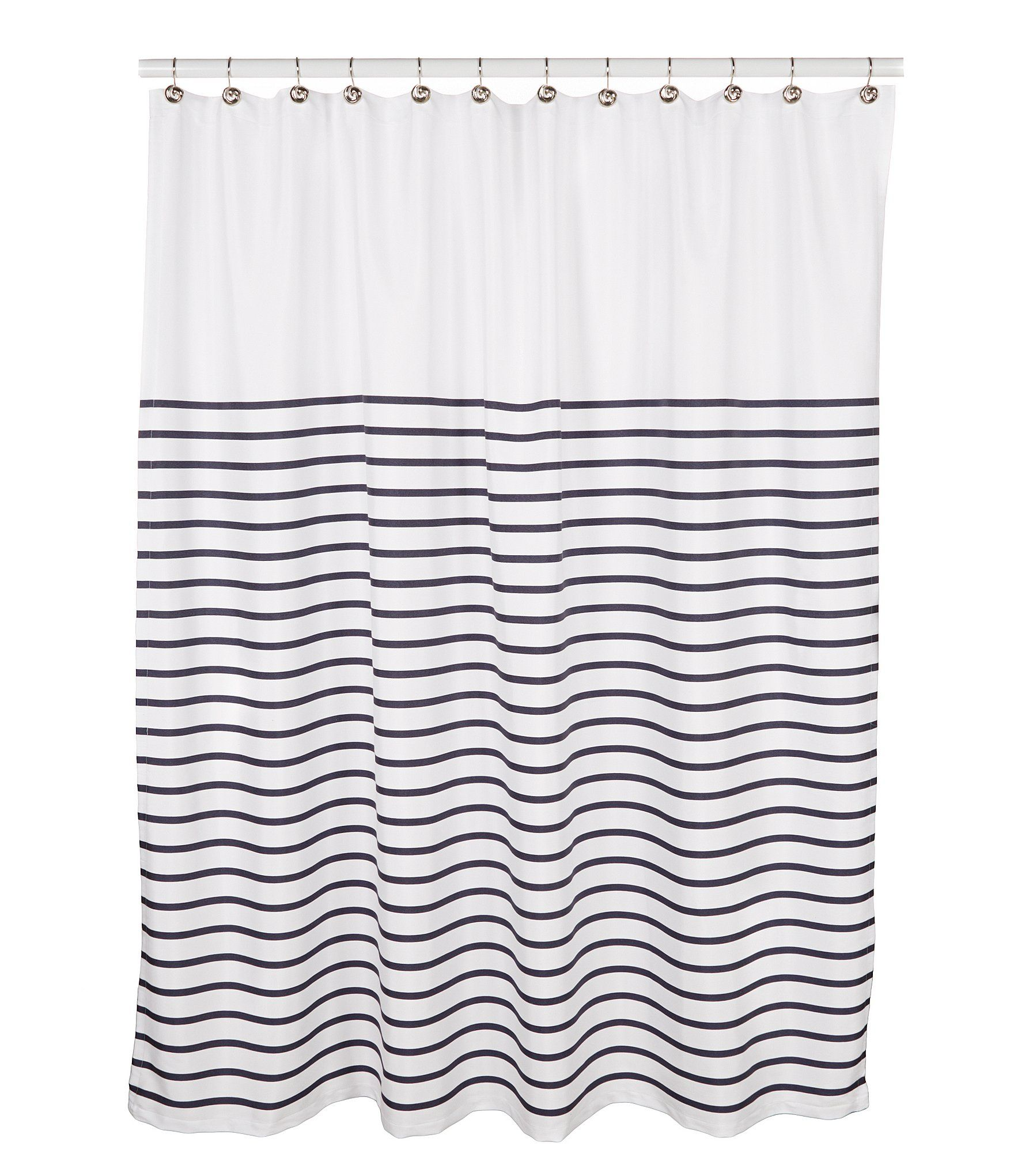 kate spade new york Harbour Stripe Shower Curtain | Striped shower ...