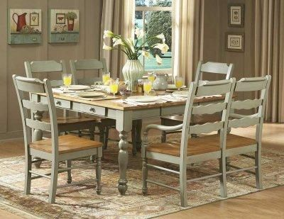 Distressed Dining Set... Nice, Just Would Add Cream Coloured Leather/  Wipeable