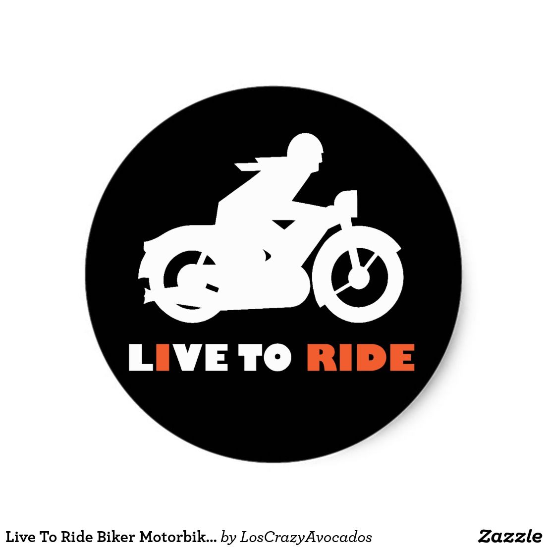 Live To Ride Biker Motorbike Motorcycle Sticker Motorcycle