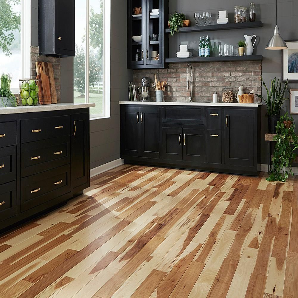 Blue Ridge Hardwood Flooring Hickory Natural 3 4 In Thick X 2 1 4 In Wide X Random Length S In 2020 Solid Hardwood Floors Hickory Wood Floors Hickory Hardwood Floors