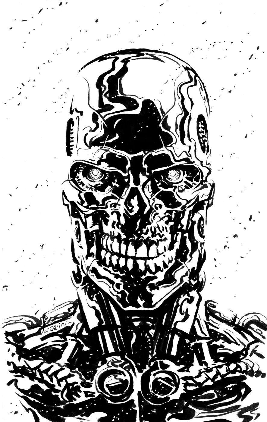 Keptalalat A Kovetkezore Terminator Silhouette Desenhos Para