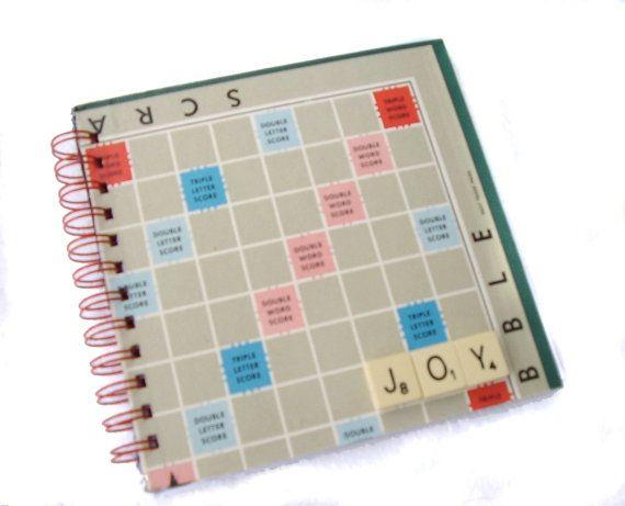PERSONALISED Scrabble Book Recycled Board Game by greenelephantuk, £10.00